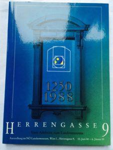 """Cover Ausstellungsbroschüre """"Herrengasse 9"""""""